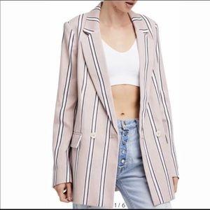 Free People Uptown Girl Striped Blazer